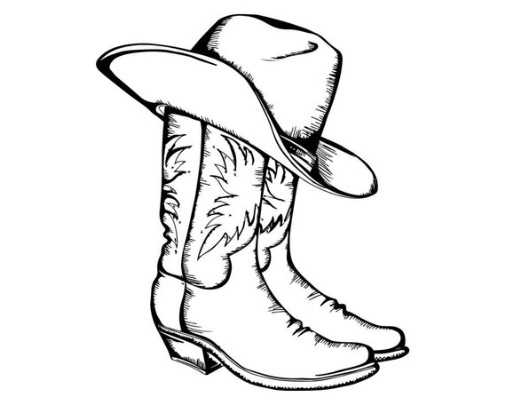 ee0b179643656a Cowboy Western West Leather Vintage Rodeo Old Traditional Ranch Boot  American Retro Hat .SVG .EPS .P