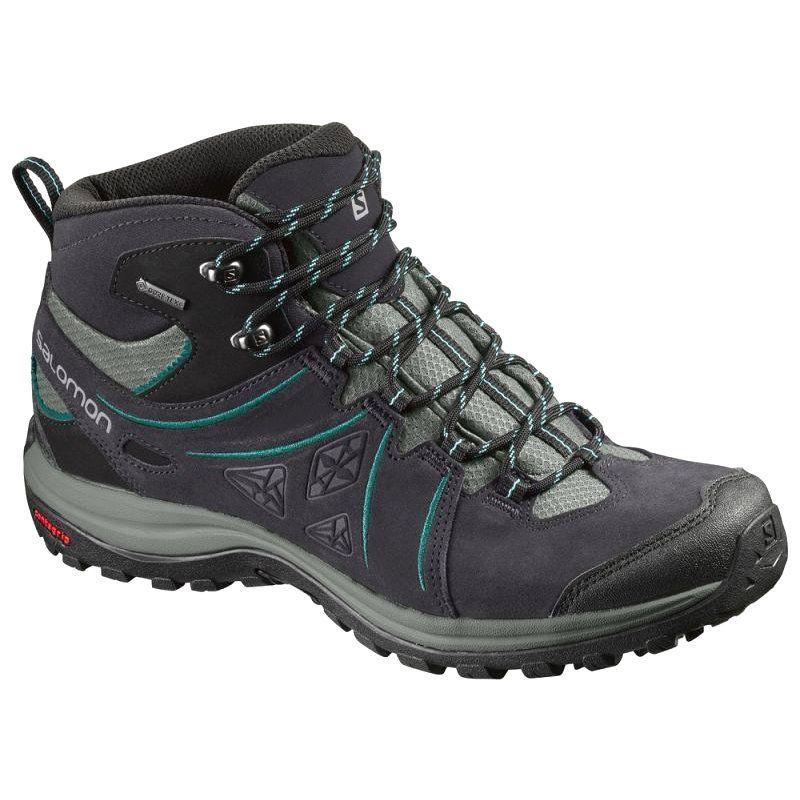 Buty Trekkingowe Salomon Ellipse 2 Mid Szare Czarne Hiking Boots Women Hiking Boots Waterproof Hiking Boots