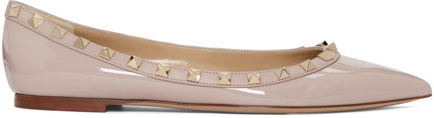 fd6c8aa011da VALENTINO Pink Patent Rockstud Ballerina Flats.  valentino  shoes  flats