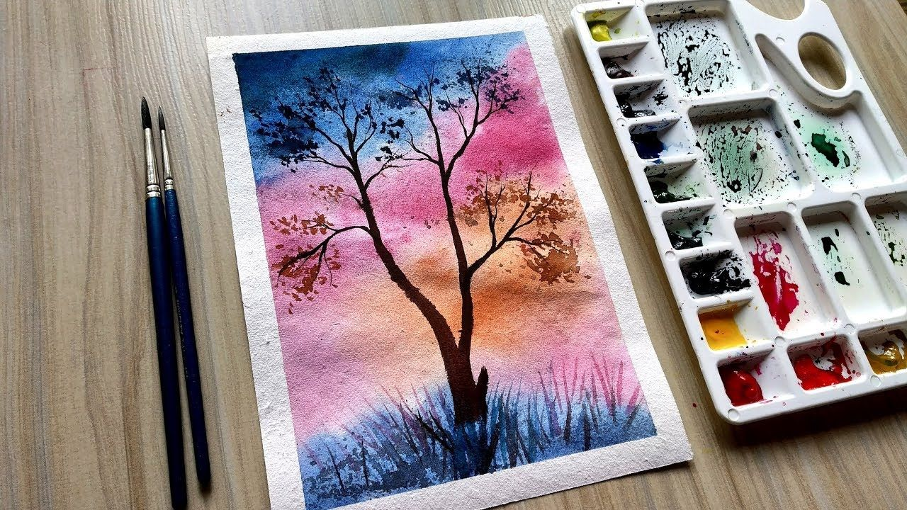 Watercolor Painting Daily Art Therapy Blending Techniques