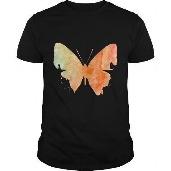 Orange Watercolor Butterfly