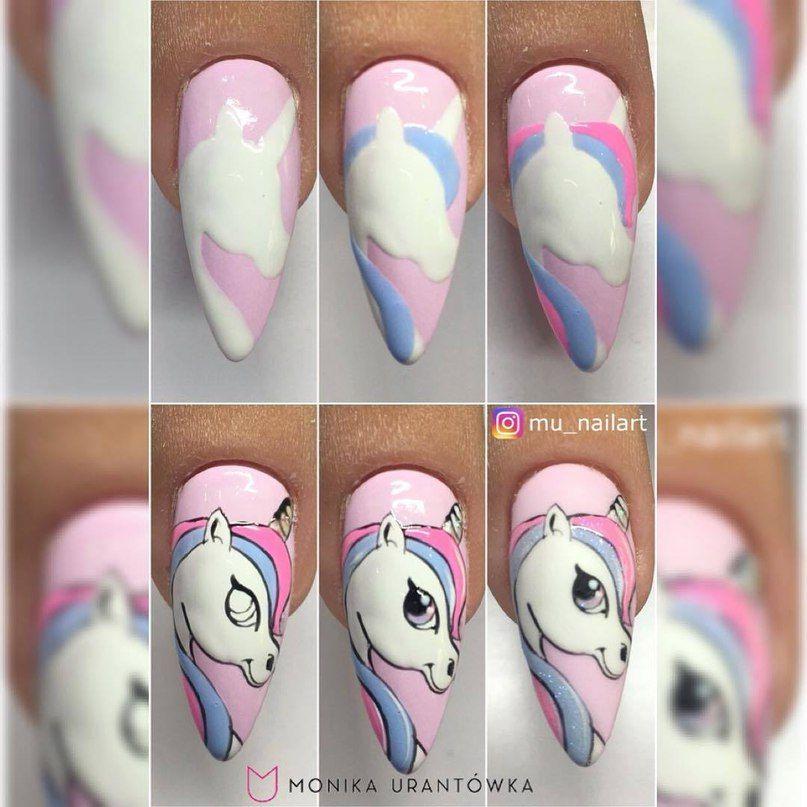 Маникюр пошагово | tutorial uñas | Pinterest | Manicure, Short nails ...