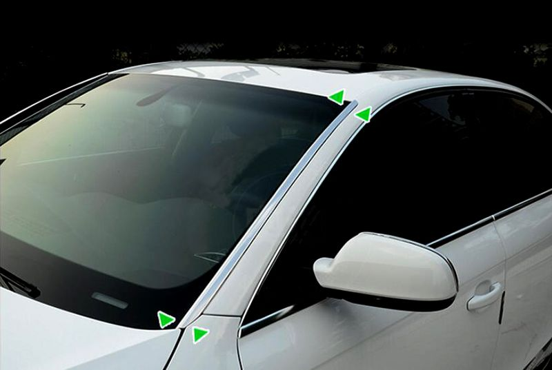 Front Windshield Trim 2pcs For Audi A4 B8 2008 09 1011 12 13 14 2015 Windshield Audi A4 Audi
