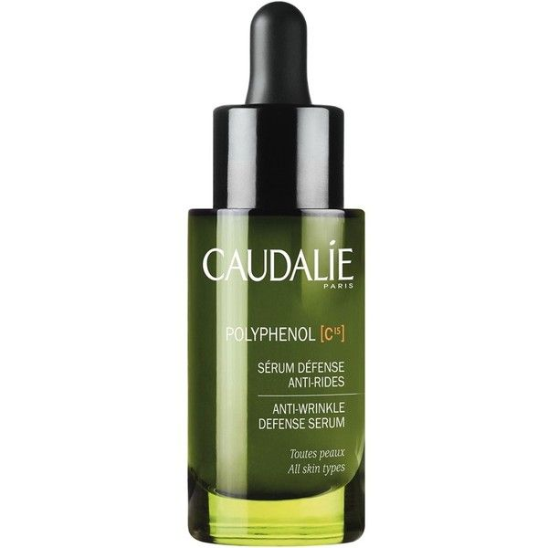 Women's Caudalie 'Polyphenol C15' Anti-Wrinkle Defense Serum ($62) ❤ liked on Polyvore featuring beauty products, skincare, face care, no color, anti wrinkle skin care and caudalie skin care