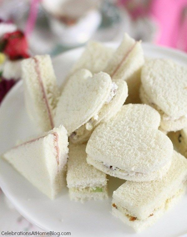 Tea:  Three different #tea party sandwiches for tea time.