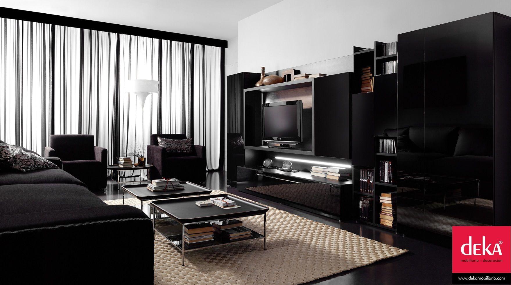 """Acabados en color negro, el toque de elegancia que buscas para tu salón.  Deka """"distinguetedelresto"""""""