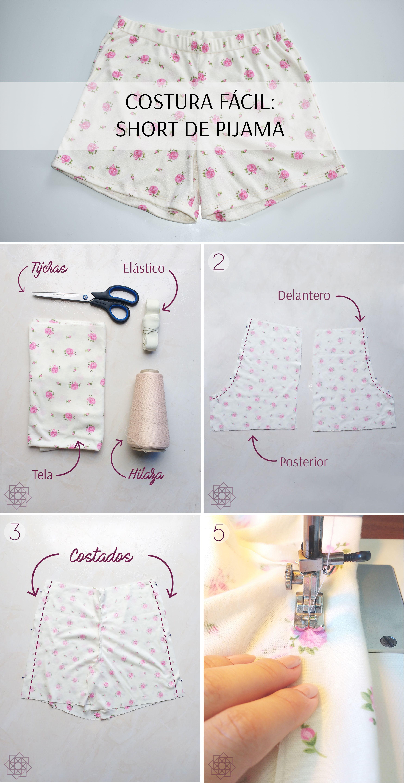 Costura fácil: aprende a hacer un short de pijama. Paso a paso ...