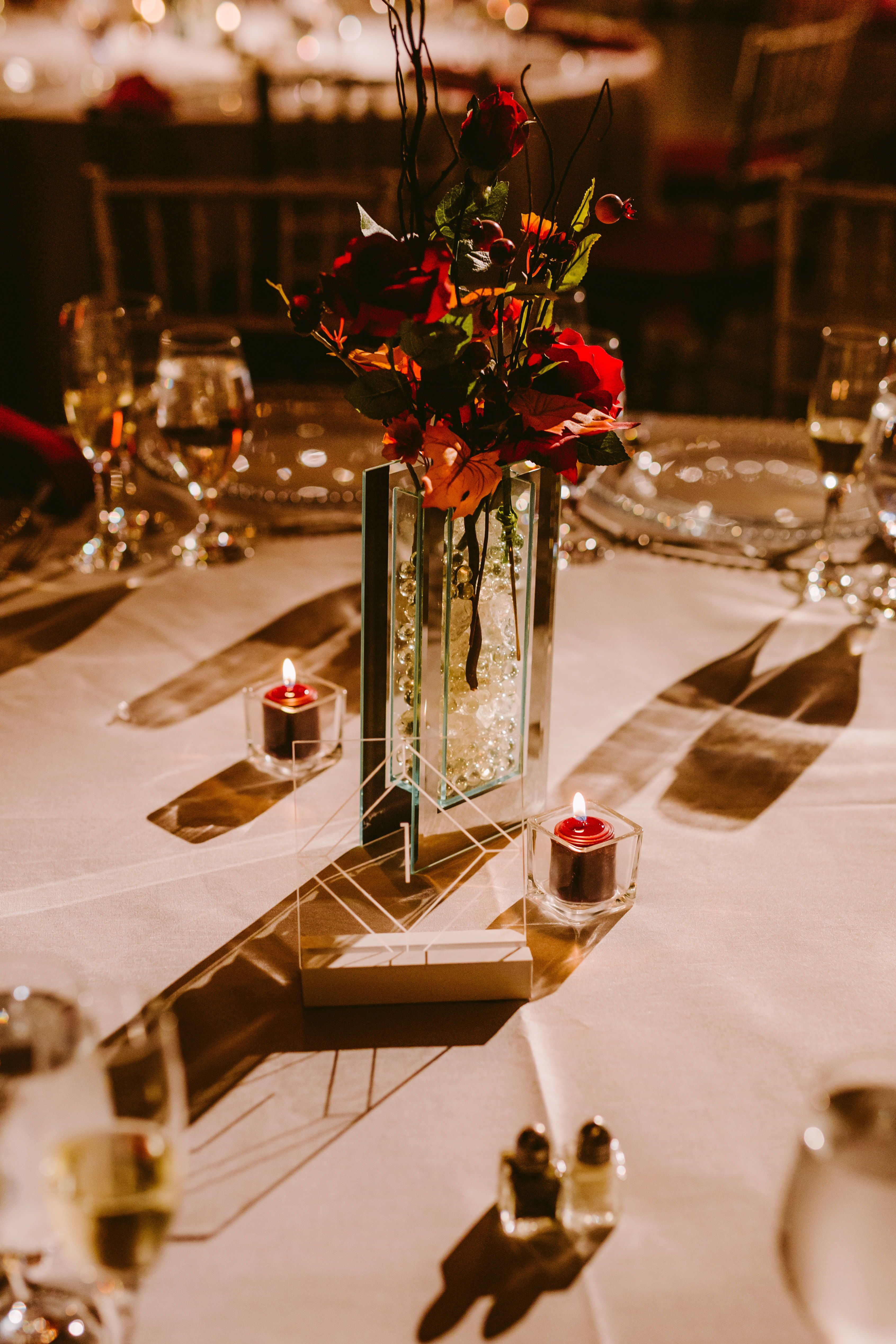 Acrylic Table Numbers for Wedding Tables, Party or Event