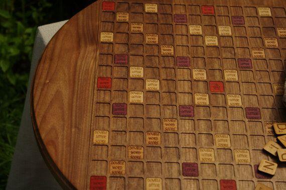 Scrabble Board Game ArtRound Black Walnut by FantasticBoardGames