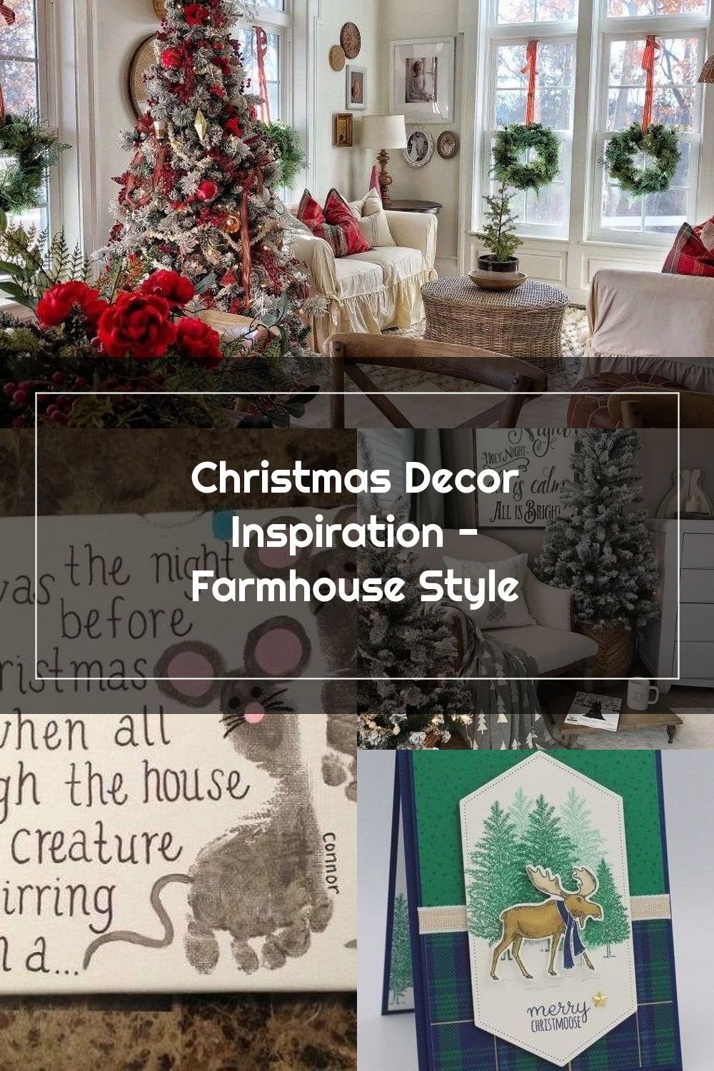 Stunning Farmhouse Christmas Decor Inspiration! • Just Life And Coffee #christmashome