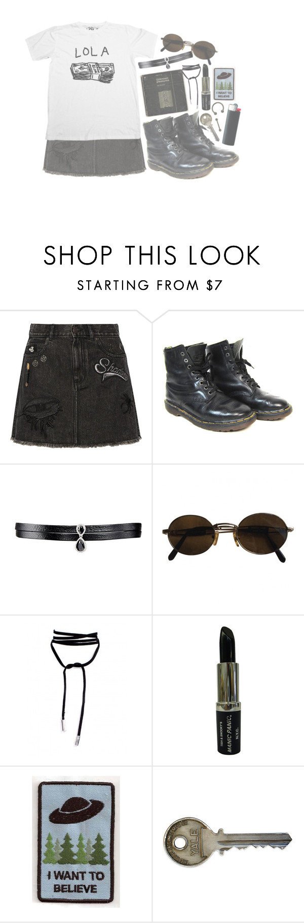 """""""And I'll never go home again"""" by i-am-not-the-enemy ❤ liked on Polyvore featuring Marc Jacobs, Dr. Martens, Fallon, Moschino and Manic Panic NYC"""