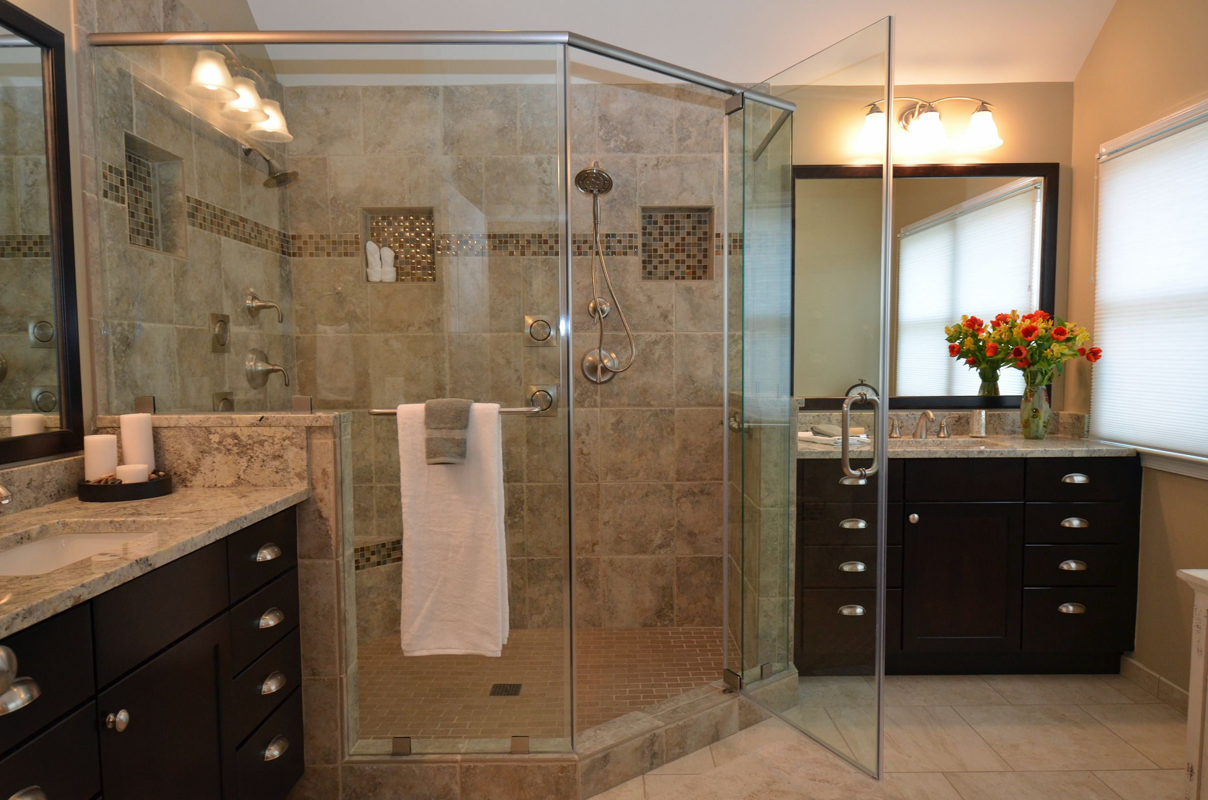 remodeled bathrooms with tile this master bathroom in ashburn va features a large 20148