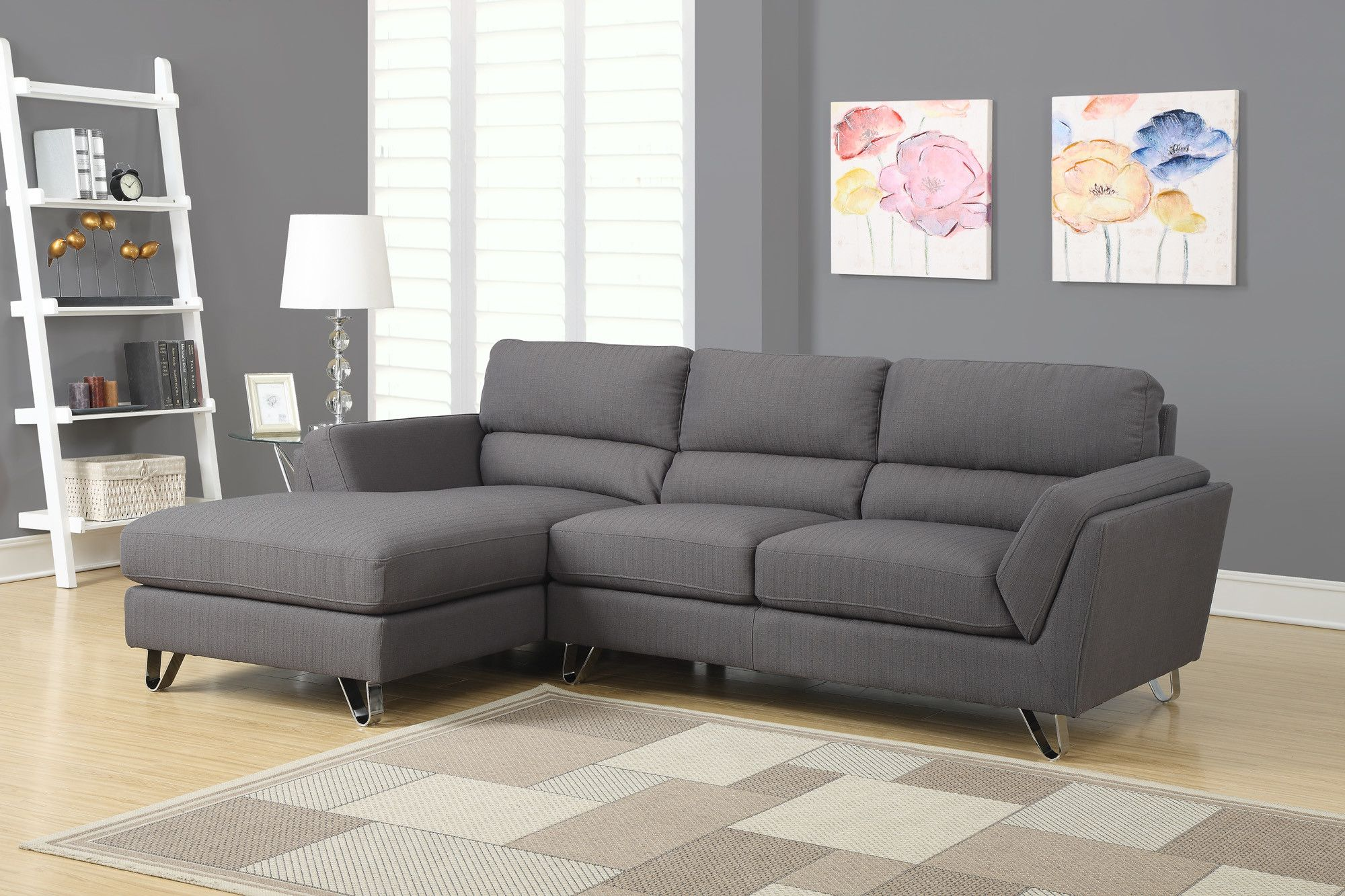 Monarch Specialties Inc Right Facing Sectional Sectional Sofa Sectional Sofa Couch Living Room Furniture Online