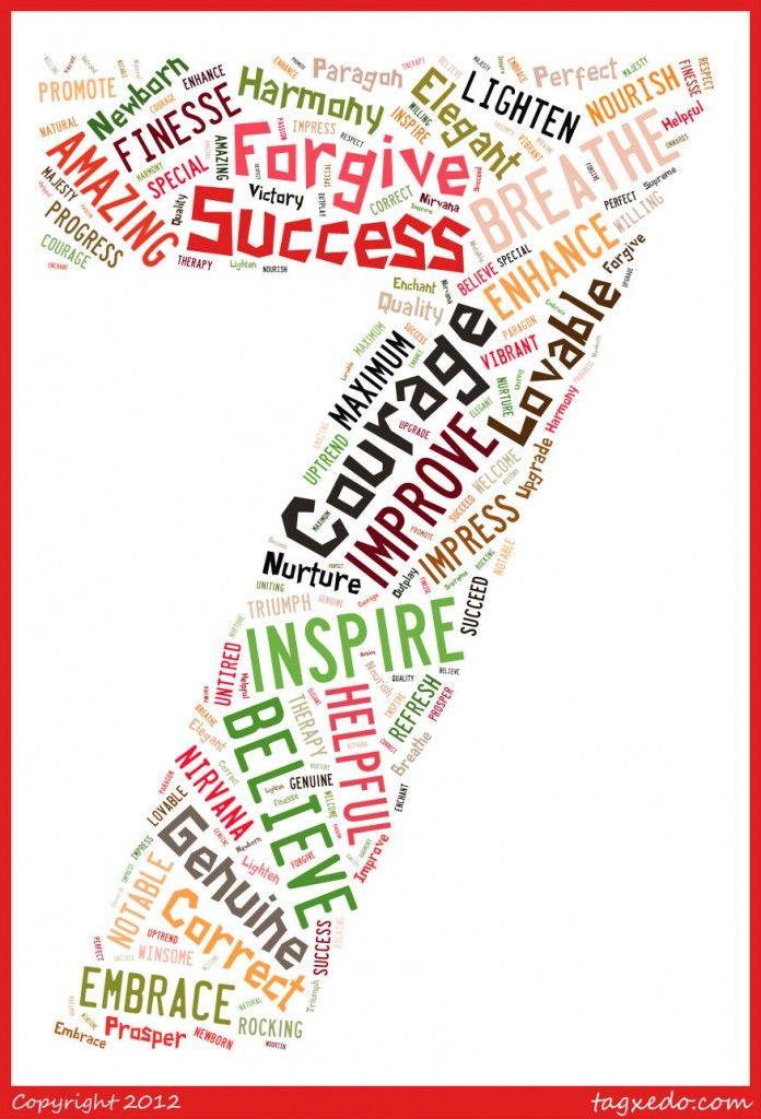7 letter words to inspire - a list of words, 7 letters in length for