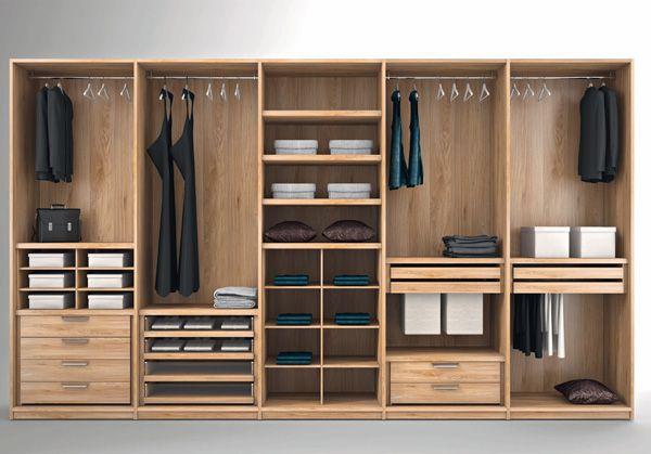 idee struttura interna armadio con rastrelliere   Cerca ...