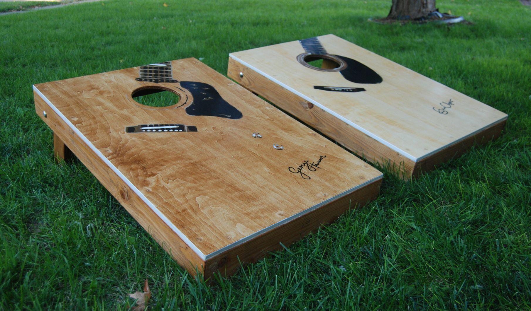 Hand Painted Guitar Boards • Cornhole Players Cornhole