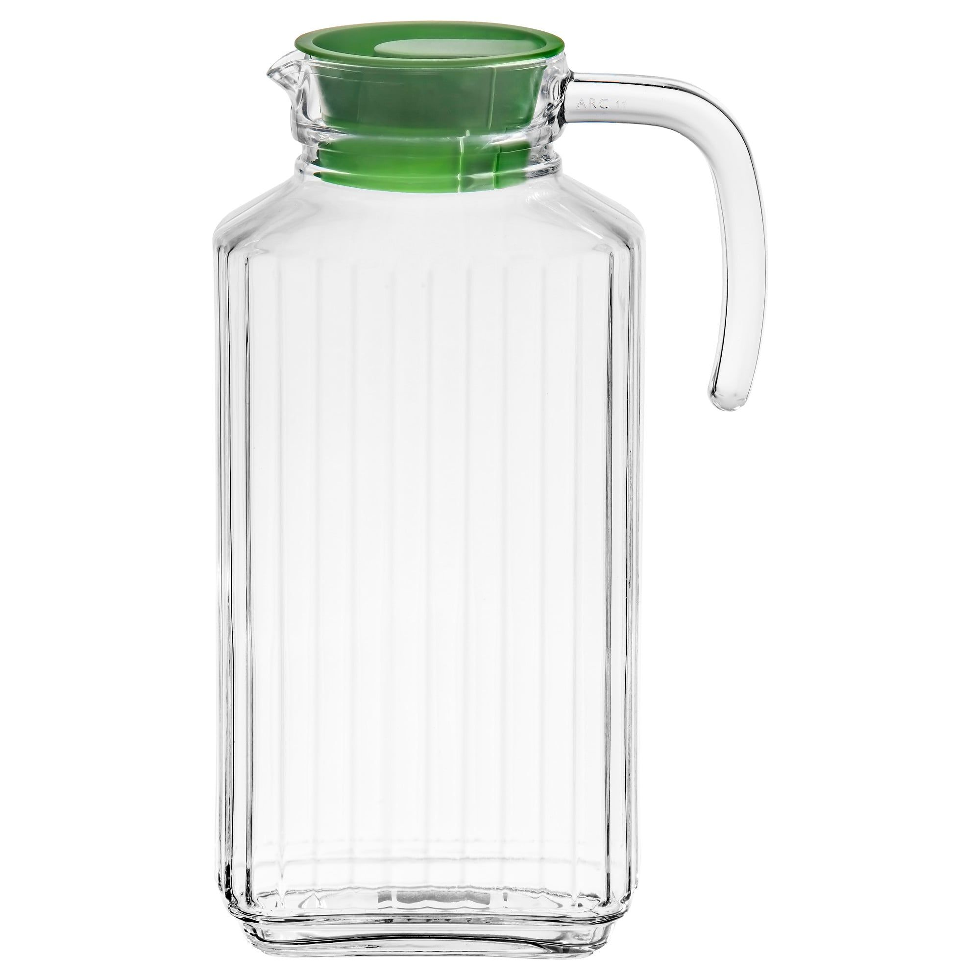 Farlig Pitcher With Lid Clear Glass 57 Oz Clear Glass Ikea