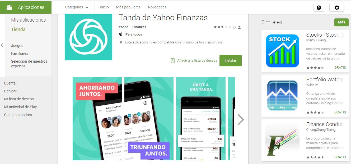 Descargar APK de Tanda by Yahoo Finance 1.0.3 Para Android