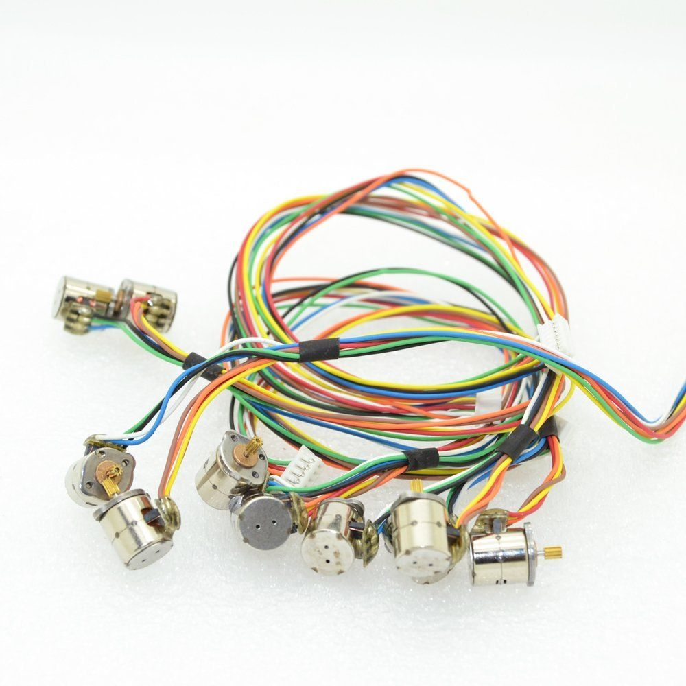Amazoncom 10pcs 2 Phase 4 Wire Micro 8mm Stepper Motor Mini Diagram Stepping With Copper Gear Home Audio Theater