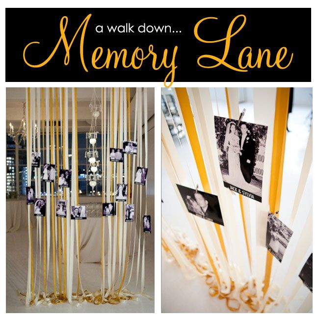 Memory Lane What A Great Idea For An Anniversary Party