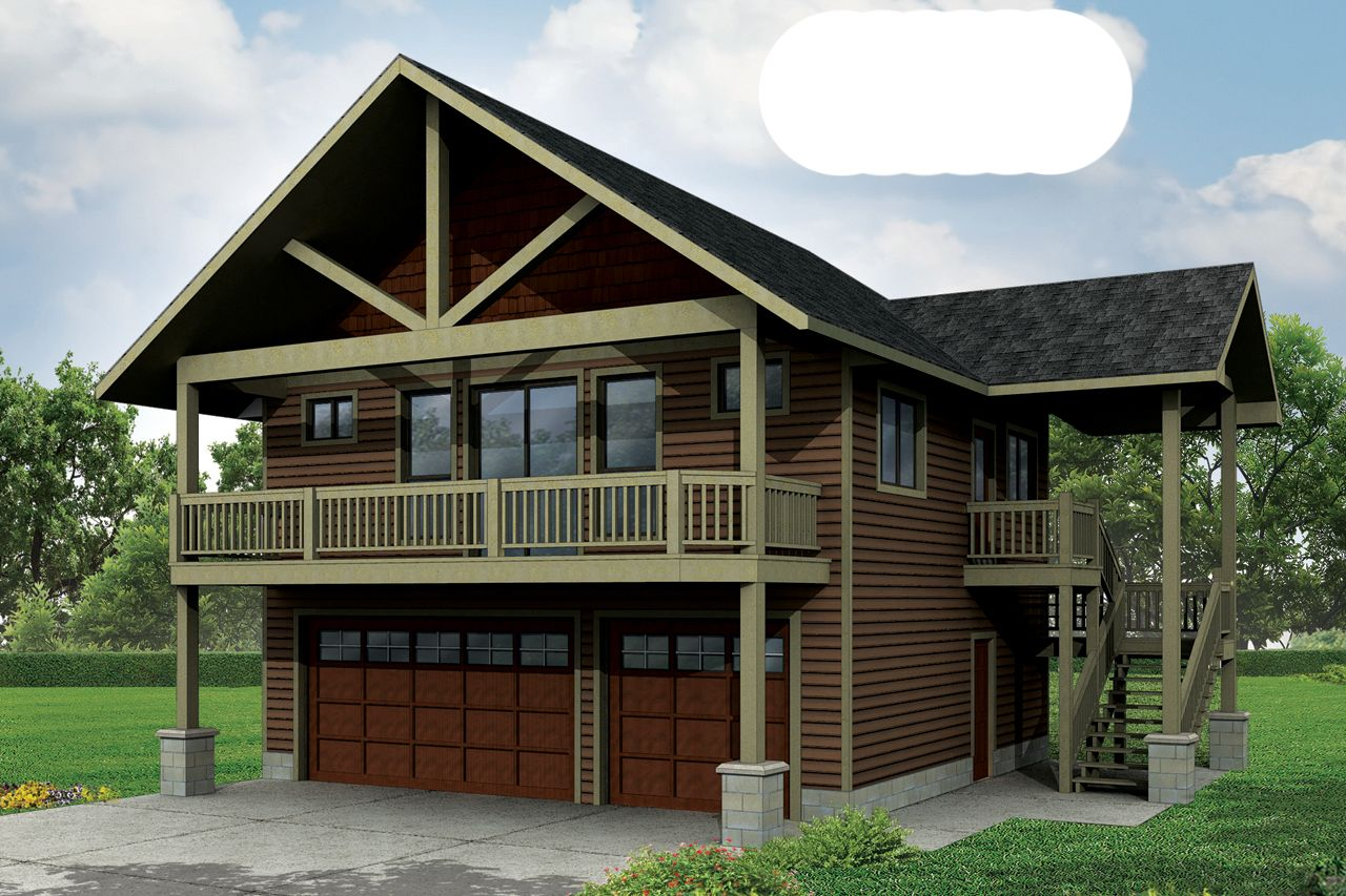 House plans loft bedroom car 2 car garage with living - Interior pictures of garage apartments ...