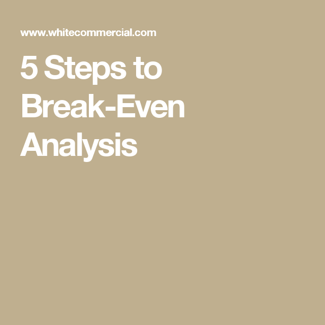 Steps To BreakEven Analysis  Managerial Accounting