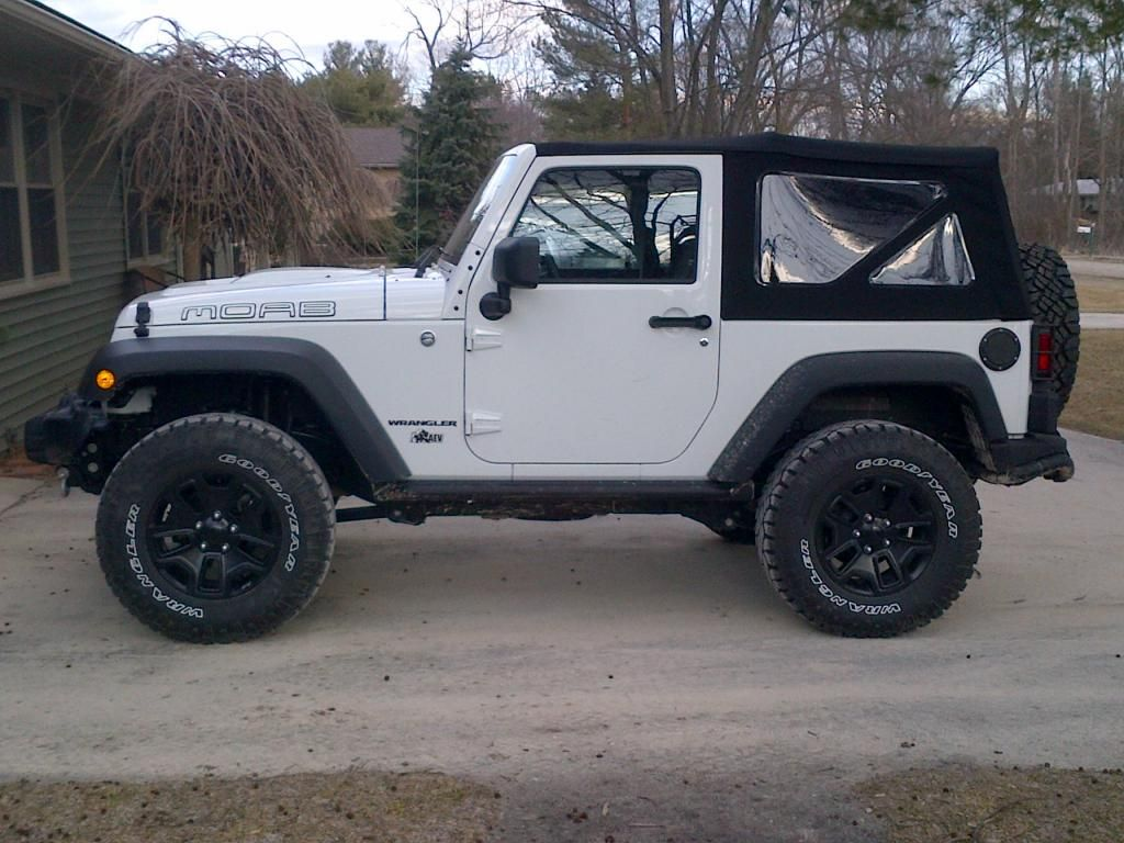 White 2 door jeep wrangler with black rims google search