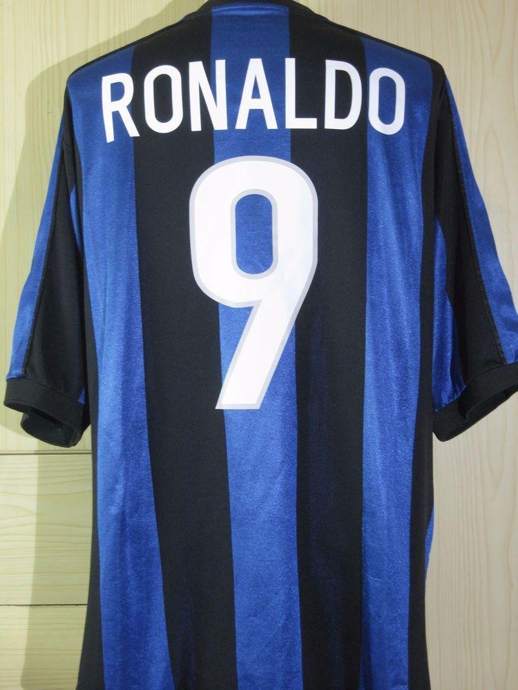 online store 5d780 4f912 Ronaldo Brazil Inter Milan Italy 1999 2000 Player Jersey ...
