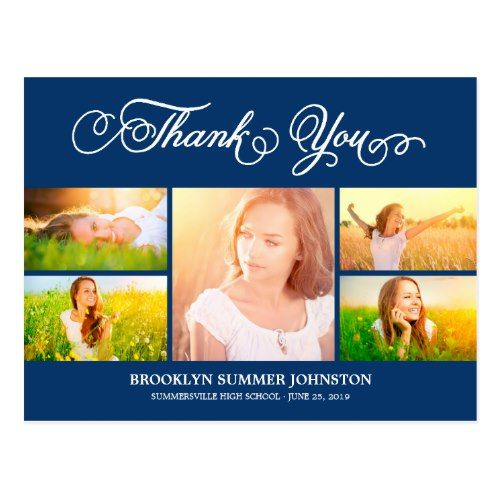 Thank You Grad Photo Collage Postcard