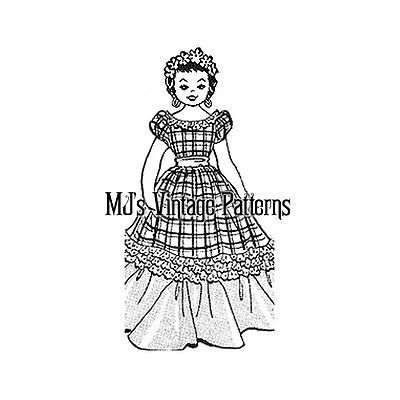 Vintage Pajama Bag Pattern ~ Girl Doll