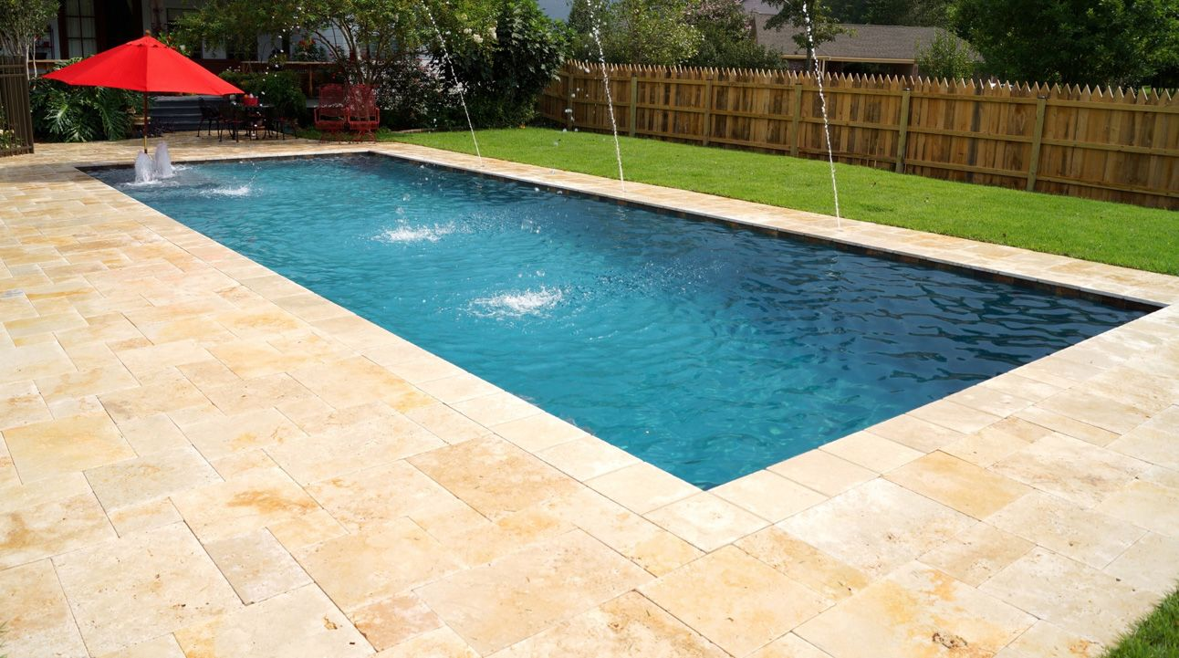 Country Classic French Pattern Pavers with Ivory Coping
