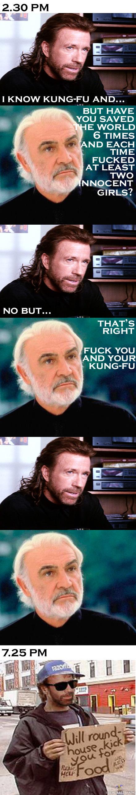 sean connery vs. chuck norris   Chuck norris, Sean connery ...