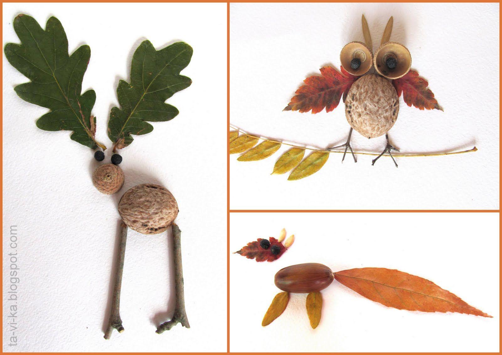 Поделки из природного листьями своими руками фото