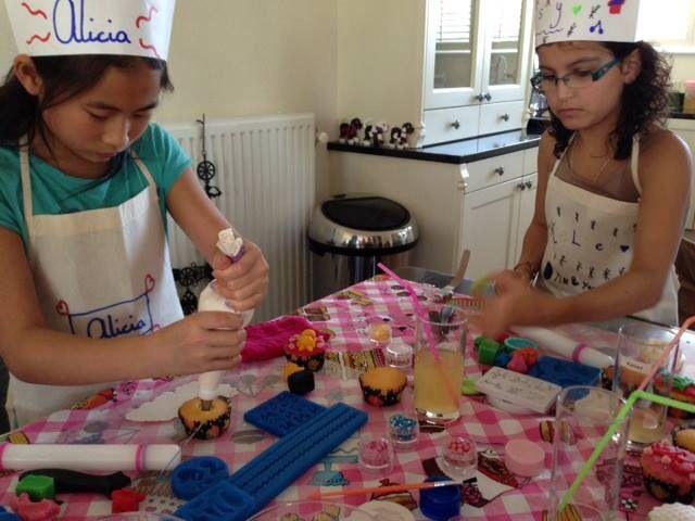 Kinderfeestje Cupcakes Versieren Cupcake Feestje Pinterest