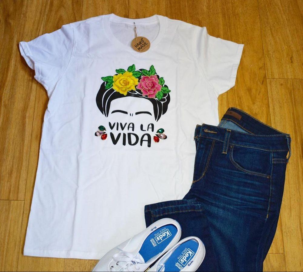Sandy Boutique On Instagram Viva La Vida T Shirt Sandyboutique Shop Tshirt Tshirtdesign Hechoamano Handmade Fridakahlo F Ropa Guay Camisetas Ropa