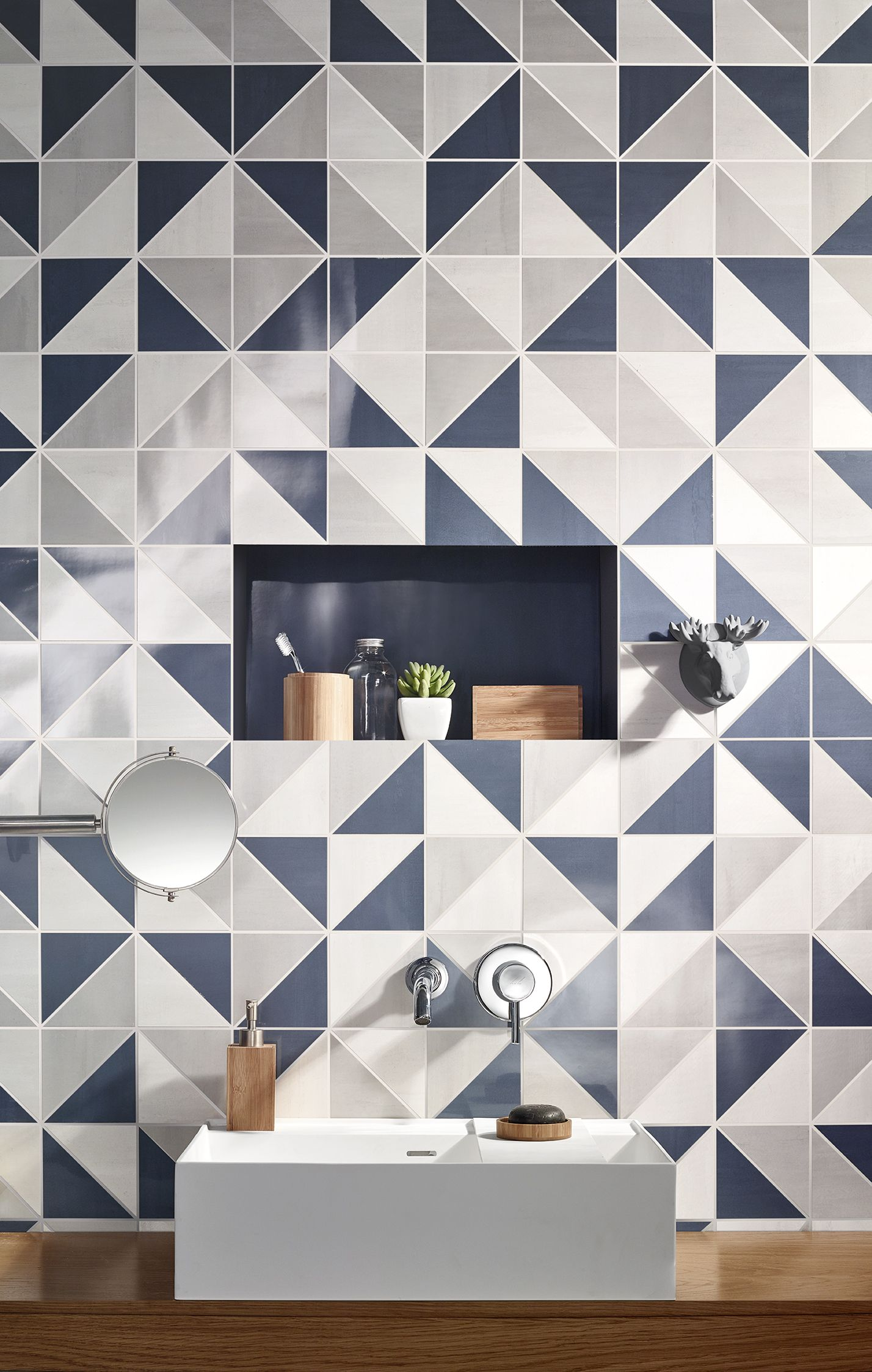 Contemporary geometric tile design by exto bathroom tiles by aroma wall tiles love ceramic tiles white paste wall aroma by gres panaria portugal s dailygadgetfo Images