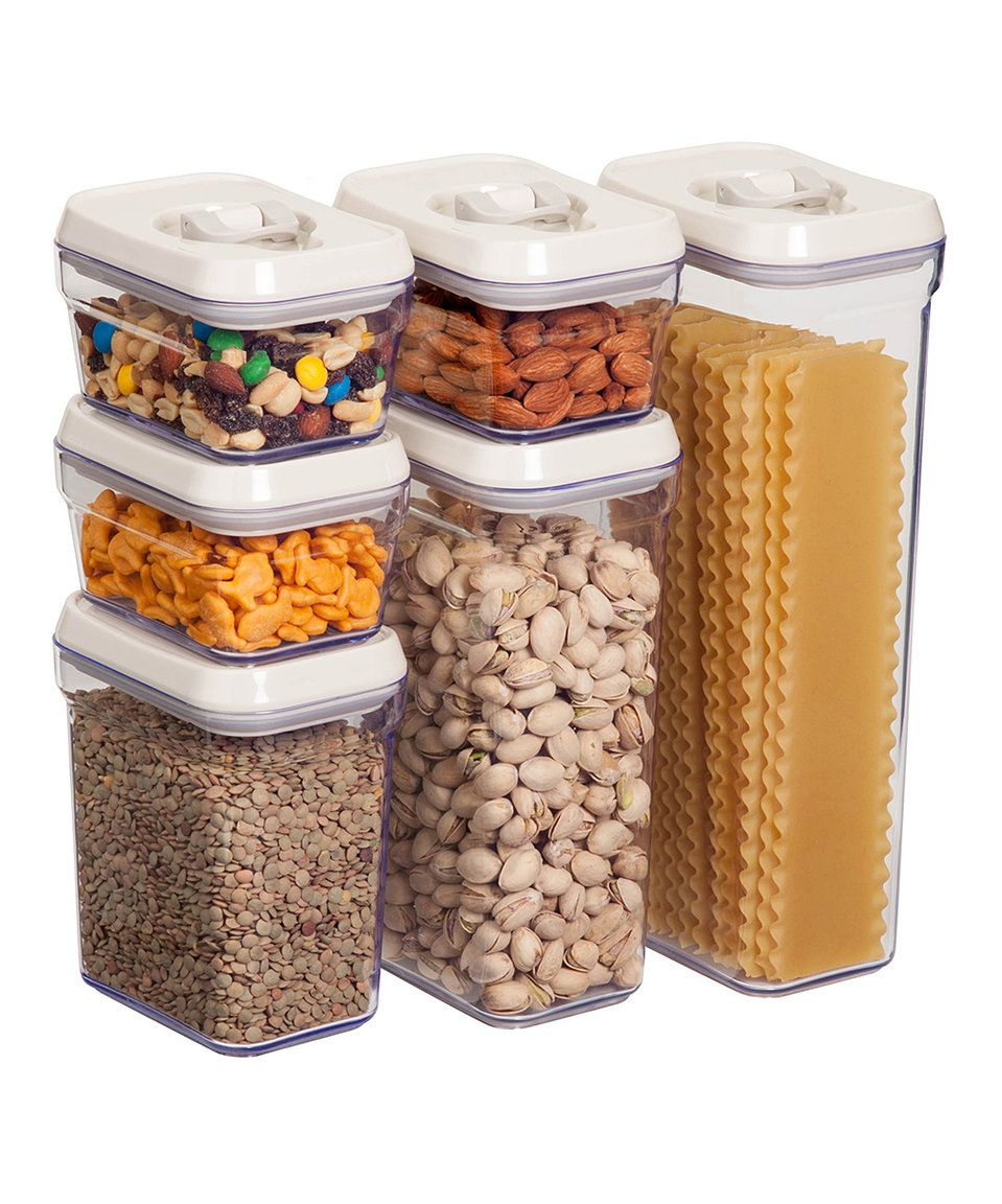 Glass Food Storage Containers With Locking Lids Take A Look At This Airlock Food Storage Container  Set Of 12