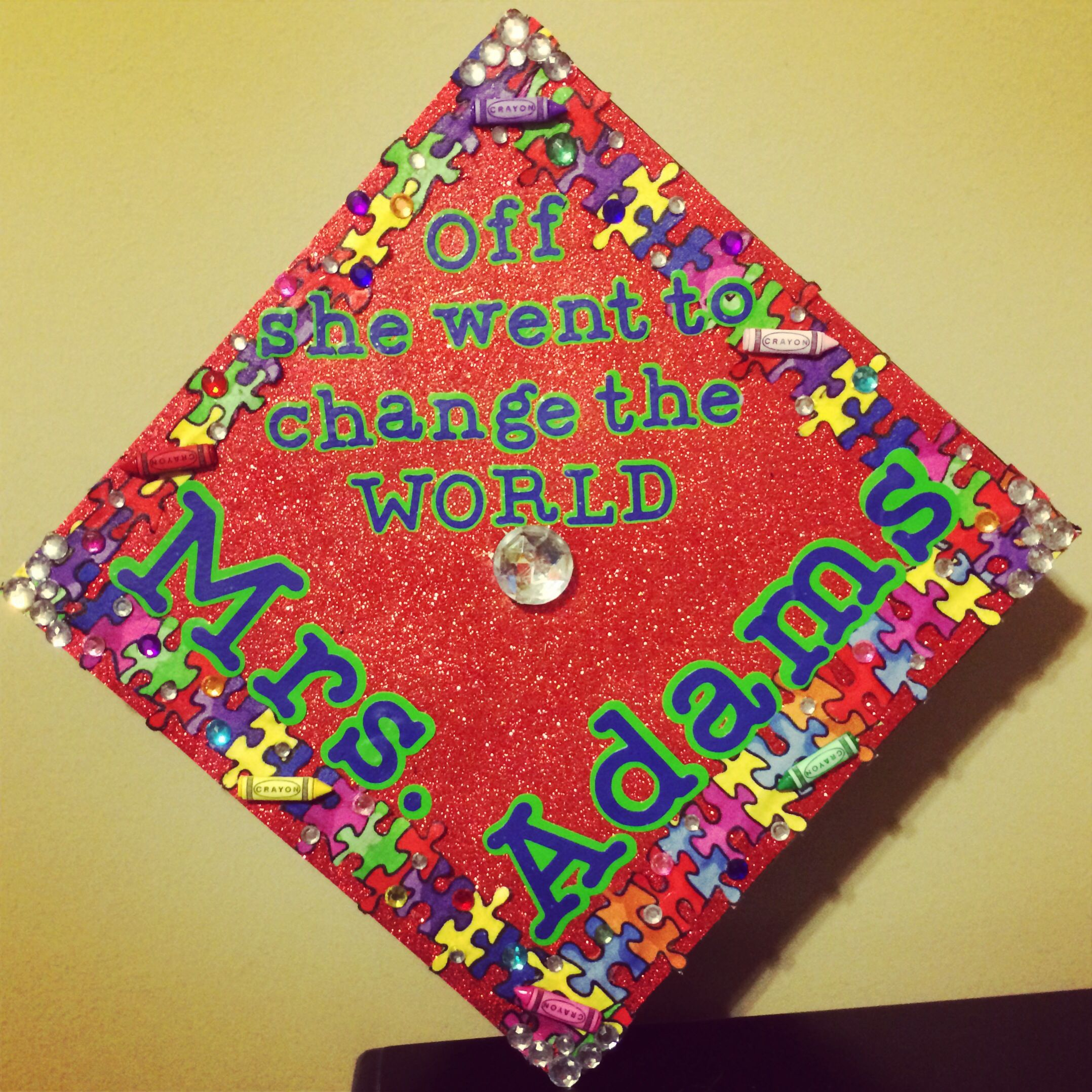 Decorating graduation cap ideas for teachers - Decorated Graduation Cap Teacher Special Education