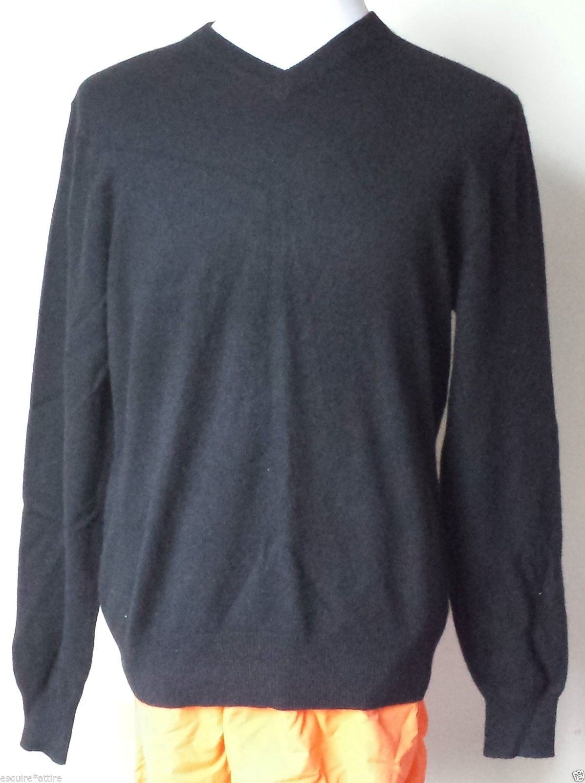 sweater men wool cashmere Allen Solly men size M 100% cashmere V ...