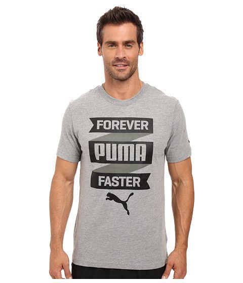 PUMA Forever Fast Banner Tee. #puma #cloth #shirts & tops