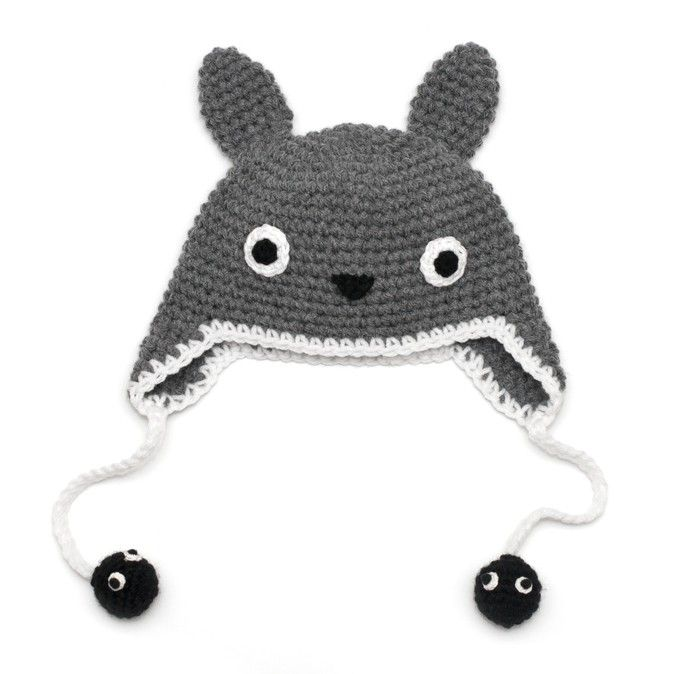 Crochet Totoro Hat with Soot sprites - Available from Newborn to ...