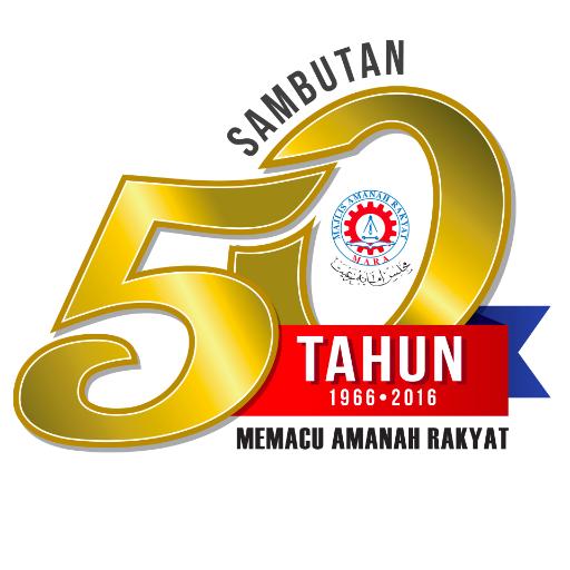 50 Tahun MARA on Anniversary logo, Logos, Anniversary