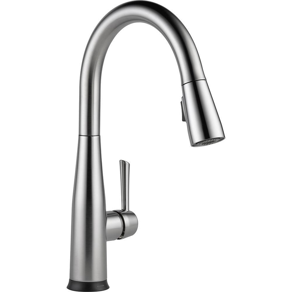 Delta Essa Touch2O Technology Single-Handle Pull-Down Sprayer Kitchen Faucet in Arctic Stainless with MagnaTite Docking-9113T-AR-DST - The Home Depot