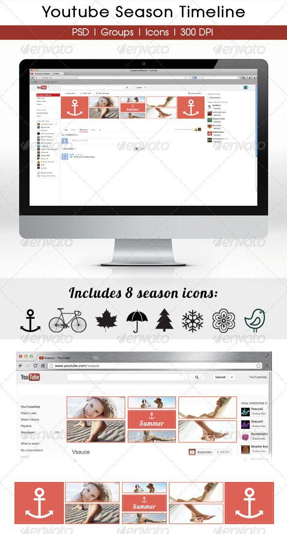 Season YouTube Timeline Timeline, Font logo and Fonts - advertising timeline template