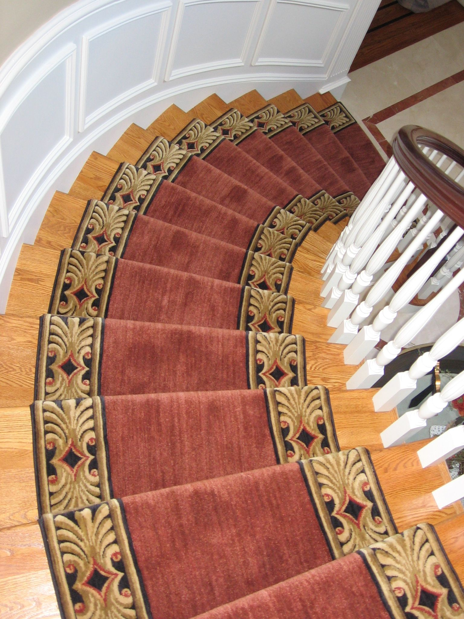 Custom Made Stair Runner By G. Fried Carpet U0026 Design, Paramus NJ