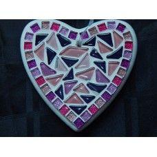 Hartje roze-paars