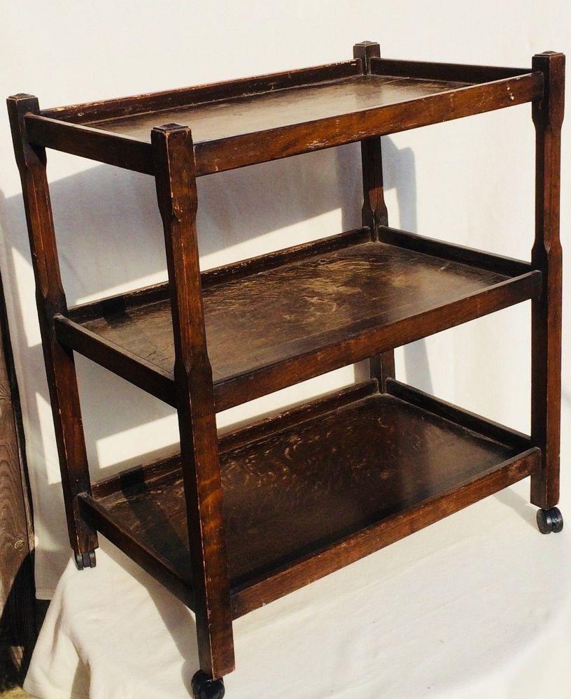Groovy Vintage Herbert E Gibbs Wooden 3 Tier Drinks Serving Tea Andrewgaddart Wooden Chair Designs For Living Room Andrewgaddartcom