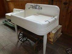 antique farm farmhouse cast kitchen sink  u0026 legs ex vintage farm sink   google search   vintage kitchens   pinterest      rh   pinterest com