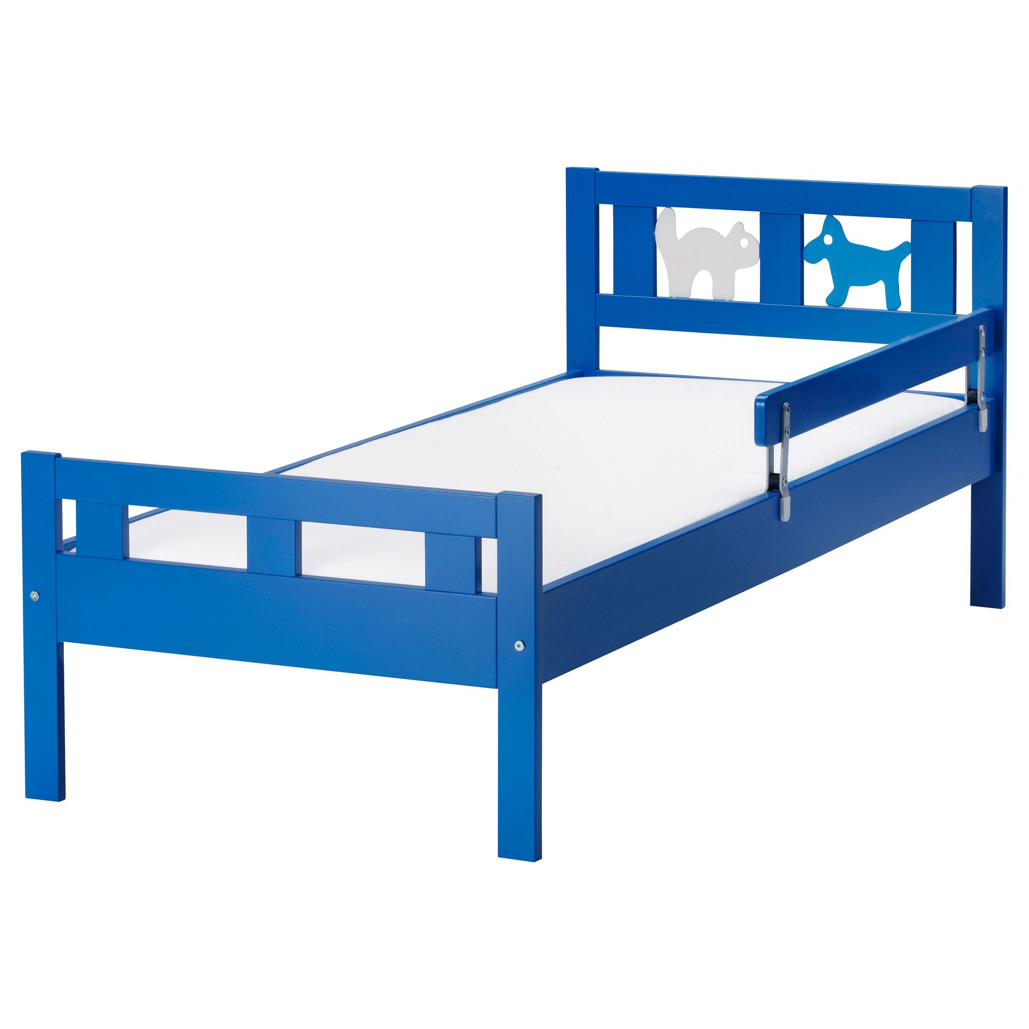Kritter Bed Frame With Slatted Bed Base Blue Ikea Big