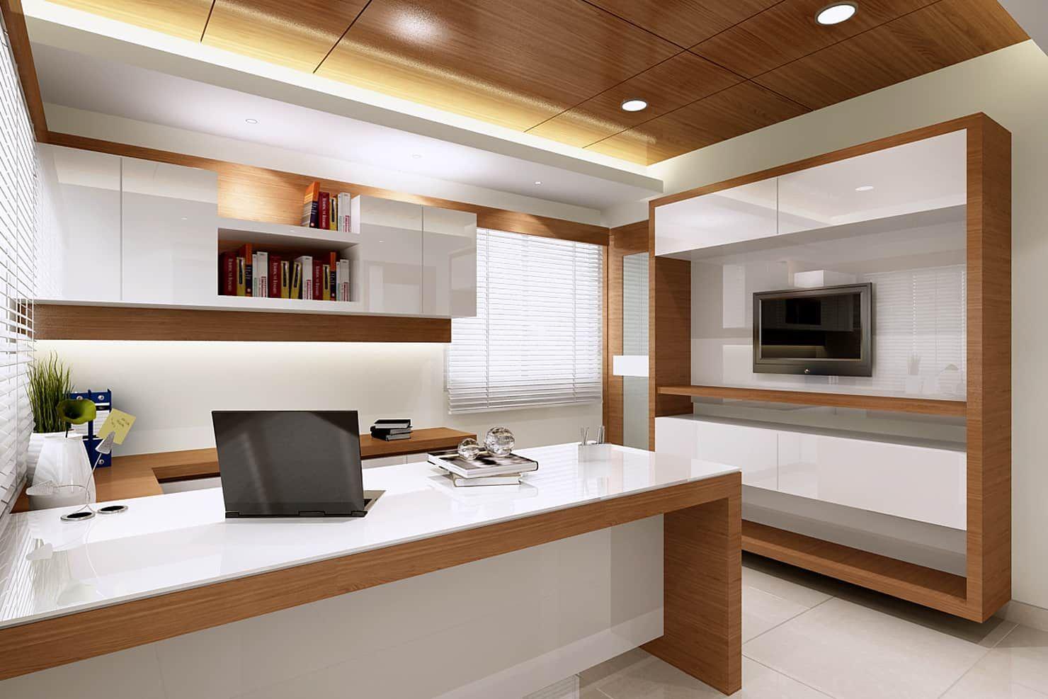 Managing directors cabin modern study/office by mah-dee ...